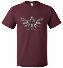 Buy Triforce Smoke Unisex T-Shirt Pop Culture Graphic Tee (4XL/Maroon) Humor Funny Nerdy