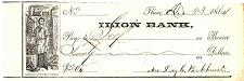 Buy December 23, 1864 Historic Vintage Antique Civil War ILION BANK Check Document