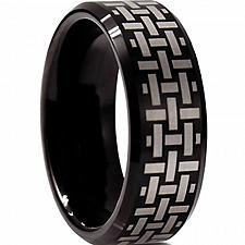 Buy coi Jewelry Black Titanium Wedding Band Ring