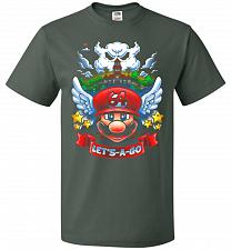 Buy Retro Mario 64 Tribute Adult Unisex T-Shirt Pop Culture Graphic Tee (S/Forest Green)