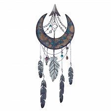 Buy *18376U - Crescent Moon Dreamcatcher Iron Wall Decoration