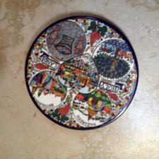 Buy holy land multicolored wall hanging decorative dessert size plate