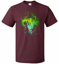Buy Rick Morty Art Unisex T-Shirt Pop Culture Graphic Tee (XL/Maroon) Humor Funny Nerdy G