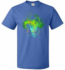 Buy Rick Morty Art Unisex T-Shirt Pop Culture Graphic Tee (S/Royal) Humor Funny Nerdy Gee