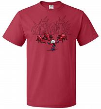 Buy Ant Training Unisex T-Shirt Pop Culture Graphic Tee (L/True Red) Humor Funny Nerdy Ge