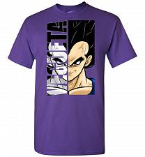 Buy Vegeta Unisex T-Shirt Pop Culture Graphic Tee (2XL/Purple) Humor Funny Nerdy Geeky Sh