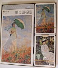 Buy Claude Monet's Themed Bridge Playing Card Set by Piatnik Lady Holding Umbrella