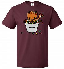 Buy A Pot Full Of Candies Unisex T-Shirt Pop Culture Graphic Tee (M/Maroon) Humor Funny N