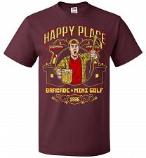 Buy Gilmore's Happy Place Adult Unisex T-Shirt Pop Culture Graphic Tee (4XL/Maroon) Humor
