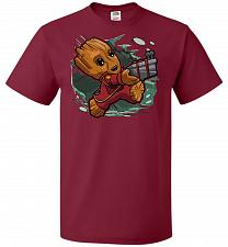 Buy Tiny Groot Unisex T-Shirt Pop Culture Graphic Tee (2XL/Cardinal) Humor Funny Nerdy Ge
