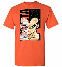 Buy Vegeta Unisex T-Shirt Pop Culture Graphic Tee (L/Orange) Humor Funny Nerdy Geeky Shir
