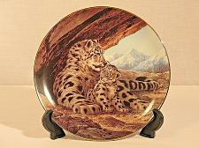 Buy Snow Leopard Collector Plate Will Nelson W.S. George Endangered Species