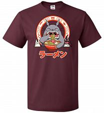 Buy The Neighbor's Ramen Unisex T-Shirt Pop Culture Graphic Tee (M/Maroon) Humor Funny Ne