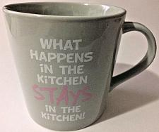 Buy WHAT HAPPENS IN THE KITCHEN STAYS IN THE KITCHEN Large 21 oz Ceramic Mug