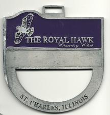 Buy Golf Bag Tag Royal Hawk Country Golf Club St Charles Illinois Member Fob VTG