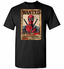 Buy Deadpool Wanted Poster Unisex T-Shirt Pop Culture Graphic Tee (2XL/Black) Humor Funny