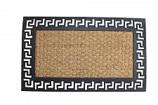 Buy *17937U - Welcome Door Mat Geometric Rubber Border Coir Center