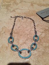 Buy beach blue bling loop turquoise colored necklace