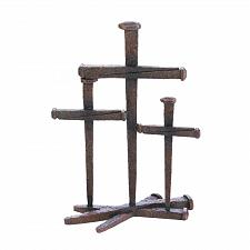 Buy *17550U - Cross Of Nails Rustic Figure Figurine