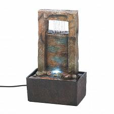 Buy *16894U - Cascading Water LED Light Brown Tabletop Tranquility Fountain