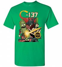 Buy C-137 Schwifty Squad Unisex T-Shirt Pop Culture Graphic Tee (2XL/Irish Green) Humor F