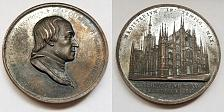 Buy 1818 Italian Milan Cathedral Archbishop Architectural Bronze Medal by F Putinati