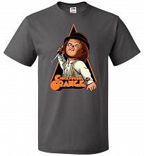 Buy Chuckywork Orange Unisex T-Shirt Pop Culture Graphic Tee (M/Charcoal Grey) Humor Funn