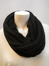 Buy Scarf Cowl Infinity Size 32X16 FADED GLORY Womens Black Knit Lurex All Occasion