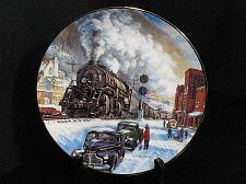 Buy Train Collector Plate Ted Xaras Winter Rails Coal Country Vintage