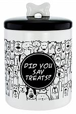 Buy :10800U - Pet Treats Ceramic Airtight Canister -Did You Say Treats-