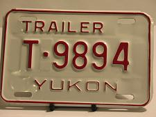 Buy Yukon License Plate Trailer T 9894 New Garage New Old Stock NOS