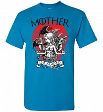 Buy Mother of Dragons Unisex T-Shirt Pop Culture Graphic Tee (L/Sapphire) Humor Funny Ner