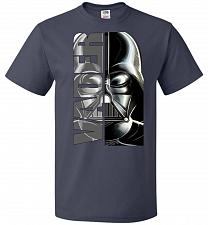 Buy Vader Youth Unisex T-Shirt Pop Culture Graphic Tee (Youth L/J Navy) Humor Funny Nerdy