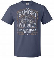 Buy Sons of Anarchy Samcro Whiskey Adult Unisex T-Shirt Pop Culture Graphic Tee (XL/Denim