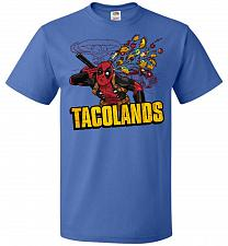 Buy Tacolands Unisex T-Shirt Pop Culture Graphic Tee (L/Royal) Humor Funny Nerdy Geeky Sh