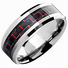 Buy coi Jewelry Tungsten Carbide Ring With Carbon Fiber - TG3699(Size US11)