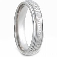 Buy coi Jewelry Tungsten Carbide greek key Patern Ring