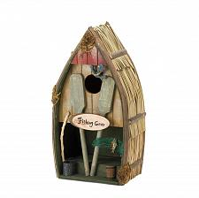Buy *15671U - Fishing Boat & Gear Wood Bird House