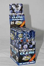 Buy BLUEBERRY Flavored CYCLONES Box of 24 packs/48 PreRolled CLEAR Cigar Tube Cones