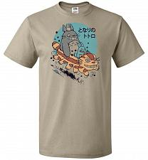 Buy The Neighbor's Antics Unisex T-Shirt Pop Culture Graphic Tee (XL/Khaki) Humor Funny N