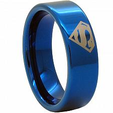 Buy coi Jewelry Titanium SuperMan Wedding Band Ring