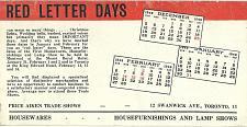 Buy Vintage Ink Blotter Price Aiken Trade Shows Swanwick Ave Toronto Ontario Canada