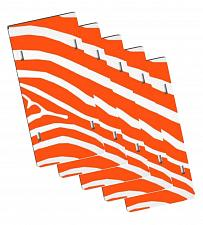 "Buy LOT OF 5 BLANK 6""x12"" PLASTIC LICENSE PLATE SUBLIMATION TAG ORANGE ZEBRA DECAL"
