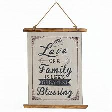 Buy *18388U - The Love Of A Family Linen Wall Art