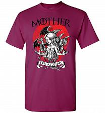 Buy Mother of Dragons Unisex T-Shirt Pop Culture Graphic Tee (L/Berry) Humor Funny Nerdy
