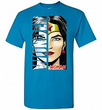 Buy Wonder Woman Unisex T-Shirt Pop Culture Graphic Tee (L/Sapphire) Humor Funny Nerdy Ge