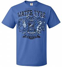 Buy Water Type Champ Pokemon Unisex T-Shirt Pop Culture Graphic Tee (XL/Royal) Humor Funn
