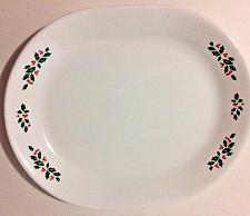 """Buy Corning Corelle Winter Holly Christmas Large 12 1/4 """" Dinner Serving Platter EUC"""