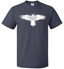 Buy Winter Is Here Unisex T-Shirt Pop Culture Graphic Tee (L/J Navy) Humor Funny Nerdy Ge