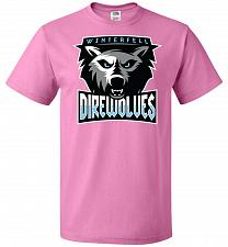 Buy Game of Thrones Inspired Winterfell Direwolves Sports Parody Adult Unisex T-Shirt Pop